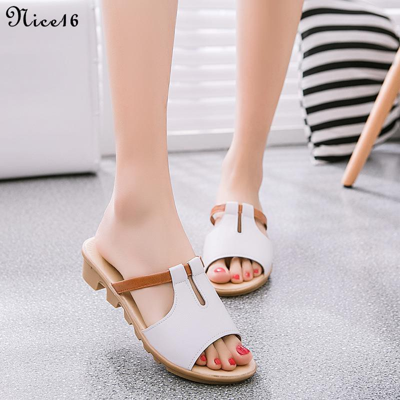 [Ladies sandals]Summer new women's shoes wedge color matching women's slippers open toe non-slip casual sandals and slip