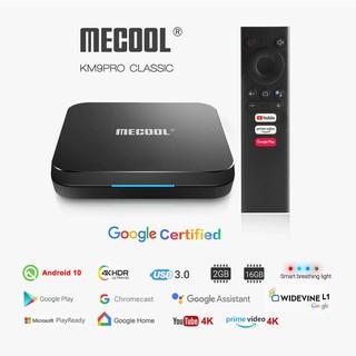 Mecool KM9 PRO CLASSIC, Android TV 10 chính chủ Google - 2GB RAM, 16GB Bộ nhớ trong, có điều khiển giọng nói kèm theo