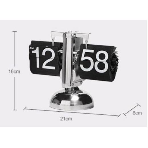 Đồng hồ lật số để bàn trang trí phong cách cổ điển Flip Clock [Ảnh thật]