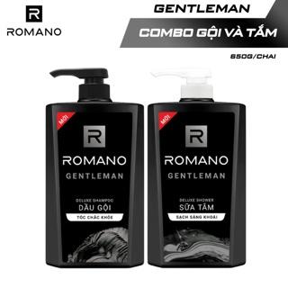 """Combo Dầu gội và Sữa tắm cao cấp Romano Gentleman 650g/chai giá chỉ còn <strong class=""""price"""">18.500.000.000đ</strong>"""