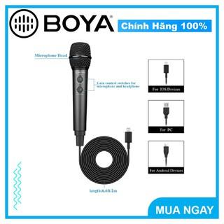 Micro thu âm Boya BY-HM2 dành cho các thiết bị điện thoại di động
