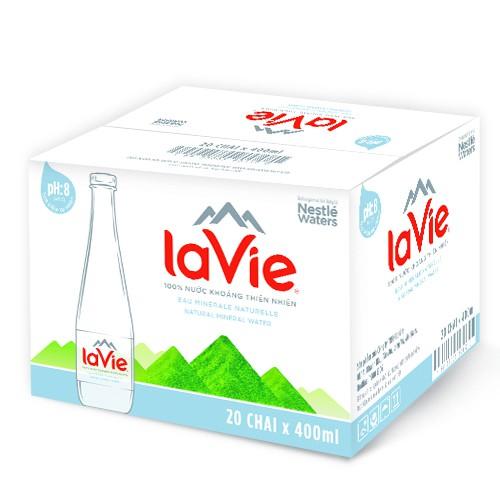 Thùng 20 chai Nước khoáng La Vie Premium 400ml