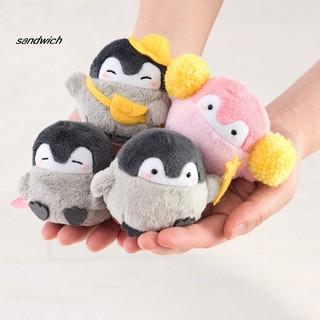 SDWC 7cm Lovely Penguin Animal Doll Plush Soft Pendant Toy Bag Decor Birthday Gift