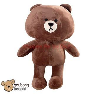 [Hàng Đẹp] Gấu Bông Gấu Brown Cao 1m – Lông Mịn – Màu Nâu