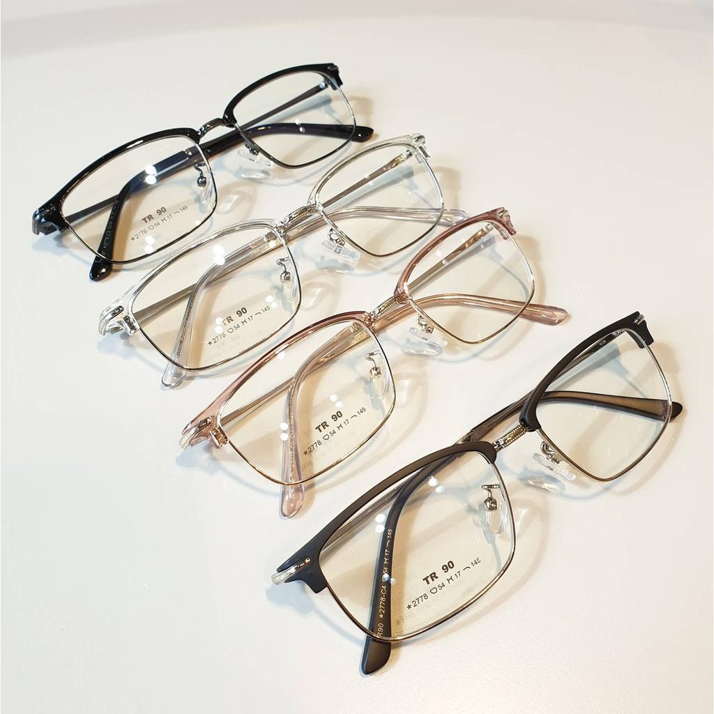 Cắt kính mắt cận-loạn Gọng kính mắt vuông cận 2778