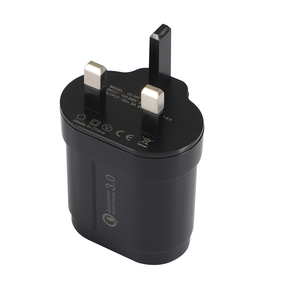 HIGHTECHELECTRIC 5V 3A UK QC 3.0 USB Charger Power Adapter For Smartphone Tablet PC