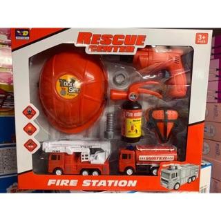 Bộ đồ chơi lính cứu hoả có mũ đội cho bé