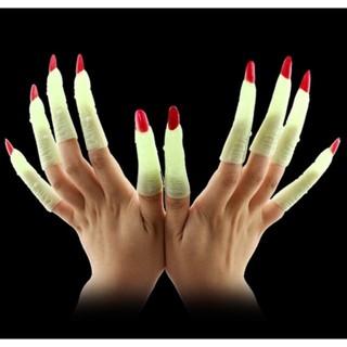 Bộ móng tay quỷ dạ quang đồ chơi Halloween