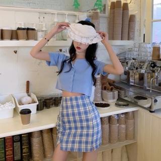 [ODER] Set váy caro ulzzang