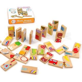 Ninikids: Bộ Domino gỗ 3 trong 1