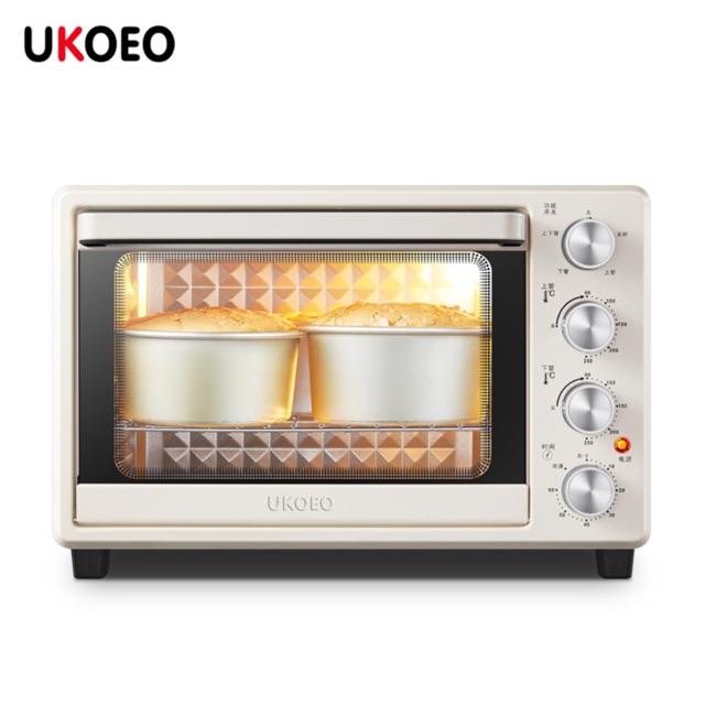 Lò nướng 32L UKOEO D1 bản tiếng Anh 2020 khoang lò trám kim cương nhiệt tán đều hơn