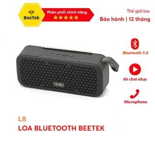 Loa Bluetooth Mini Beetek L8 -Đàm thoại, FM, Bluetooth 5.0 6h Phát nhạc BH 6 Tháng