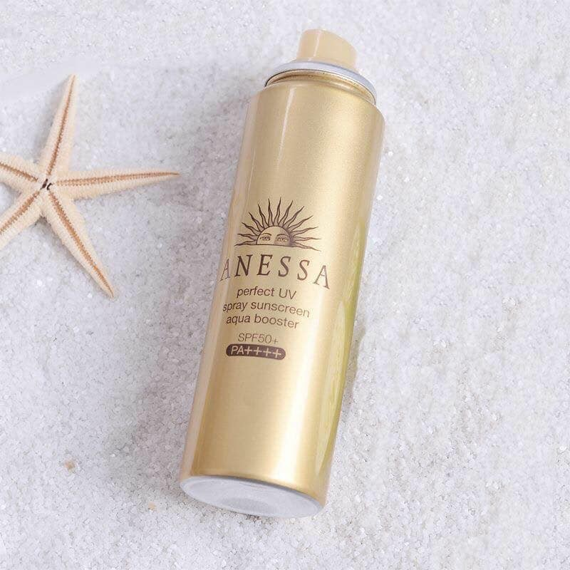 Xịt Chống Nắng Anessa Perfect UV Spray Sunscreen Aqua Booster 60ml - Hàng Chuẩn Công Ty