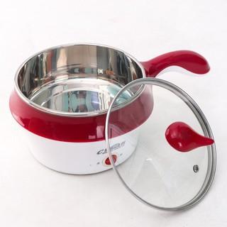 💥HÀNG XỊN💥 Nồi Điện Mini Hai Tầng Đa Năng Tặng Kèm Khay Hấp có thể Chiên, Xào, Nấu ăn, nấu cơm, nấu lẩu mini