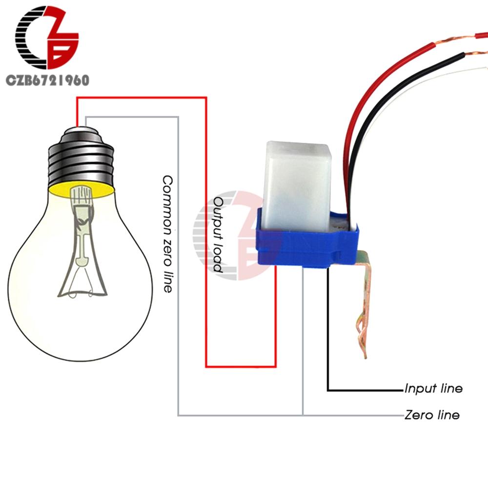 AC 220V DC 12V 24V Switch Automatic Auto On Off Photocell Street Light Switch 10A Photoswitch Sensor Control Light Switch