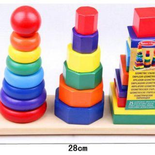 Tháp chồng 3 cọc Montessori