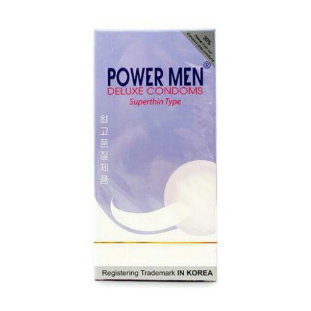 Bao cao su Power men Siêu mỏng ( hộp 12 cái)