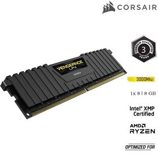 Bộ nhớ ram PC CORSAIR VENGEANCE LPX 8GB DDR4 1 x 8GB Buss 3000MHz CMK8GX4M1D3000C16 thumbnail