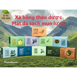 Xà bông xà phòng tắm thảo dược 100% tự nhiên HTX Sinh Dược- Mua 2 tặng 1 túi lưới đựng xà bông