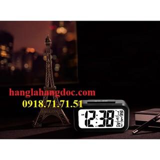 Đồng hồ cảm biến ánh sáng xem giờ ban đêm để bàn, đa chức năng (báo thức, ngày tháng, nhiệt độ...)