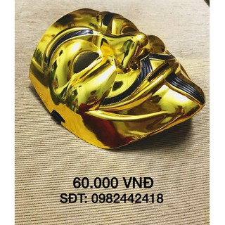 Mặt nạ hacker anonymous (màu vàng bóng đặc biêt)-j42 | botmau0654