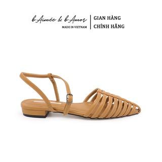 Sandal Bít Mũi Nữ bAimée & bAmor Quai Hậu Gót Vuông Bệt 1.5cm Mũi Nhọn Đế Bằng Thời Trang Hàn Quốc Đẹp Cao Cấp - MS1565