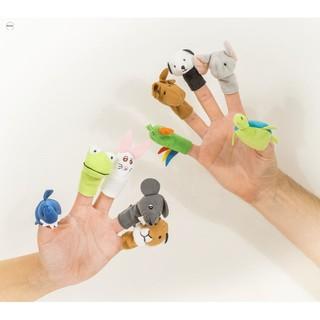 Bộ thú rối 5 con xỏ ngón tay làm trò chơi cho bé BÁN ĐÚNG GIÁ