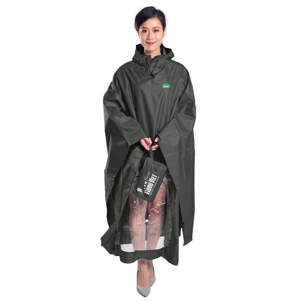 Áo mưa choàng PU cao cấp tráng phủ 6 lớp Hưng Việt