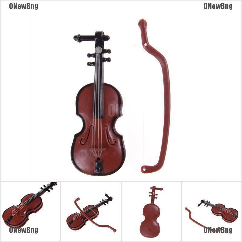 ONewBng✪ 1:12 Dollhouse Miniature Violin Musical Instruments Collection Diy Decor Gift