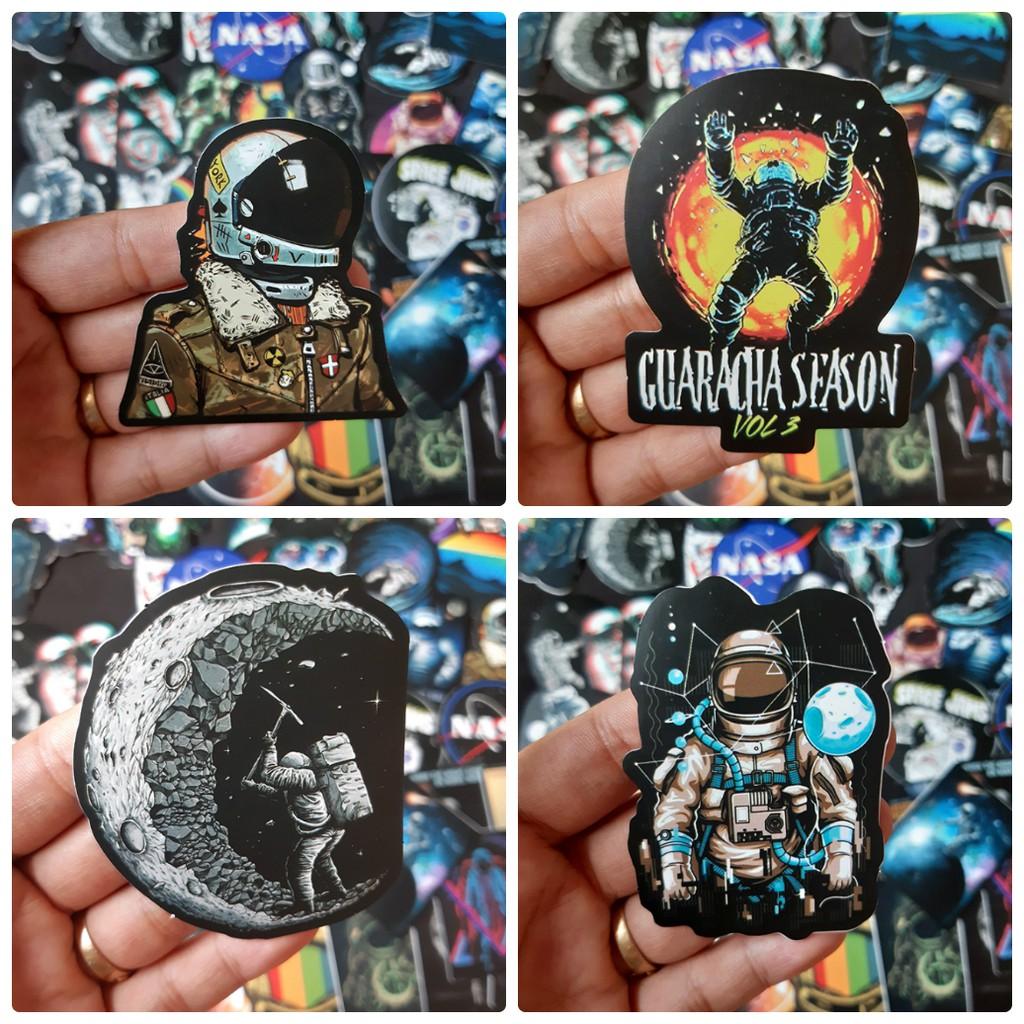 Sticker dán cao cấp chủ đề NASA - Dùng dán Xe, dán mũ bảo hiểm, dán Laptop...