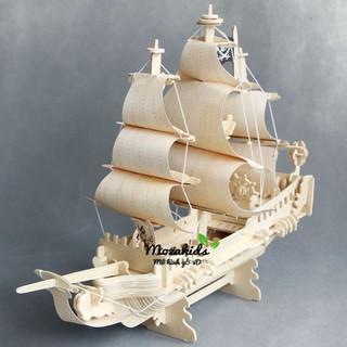 Đồ chơi lắp ráp gỗ 3D Mô hình Tàu Cướp Biển Pirate Ship