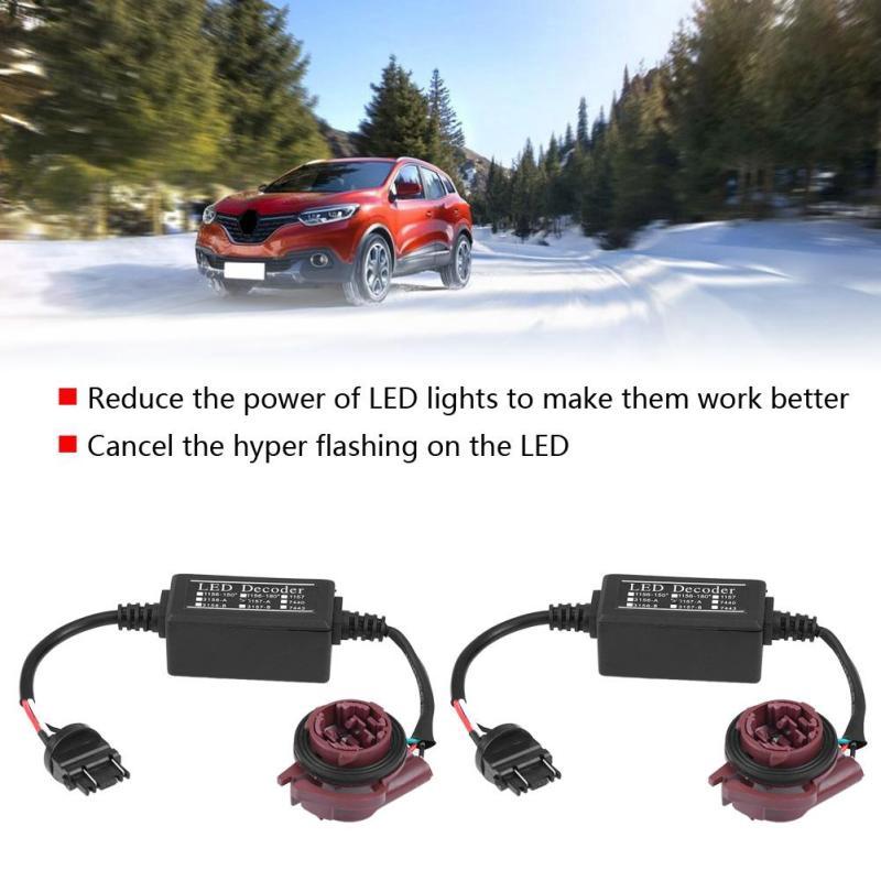 2pcs 3157 LED Decoder Adapter Anti Hyper Blink Flash Error Cancel Canbus Brake