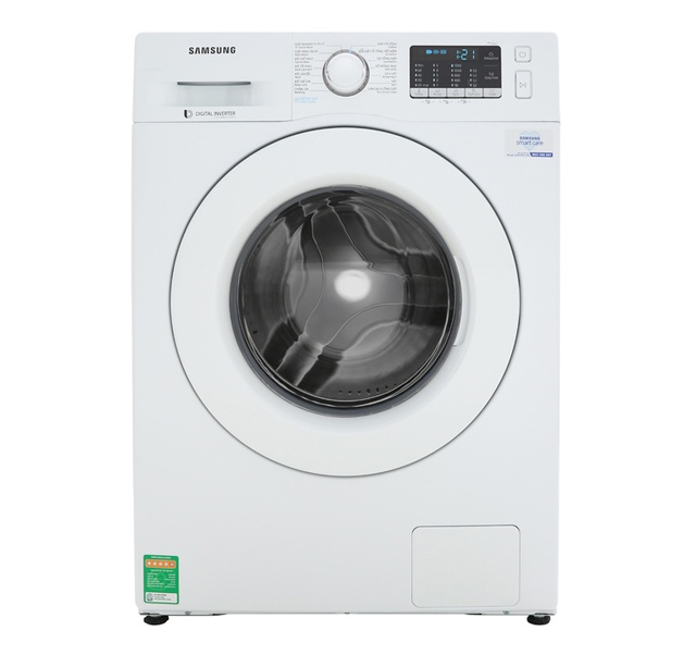[ELSS200 giảm 300K đơn 3tr5] Miễn phí công lắp đặt-Máy giặt Samsung Inverter 8 kg WW80J52G0KW/SV