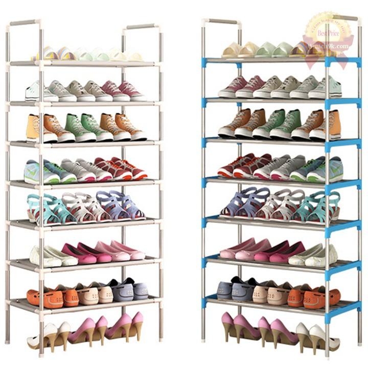 Kệ để giày dép inox 7 tầng 5 2 tầng | Giá để giày dép giá sách