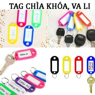Name tag vali – thẻ ghi chú, ghi nhớ móc chìa khóa đa năng, thẻ đeo đánh dấu bảng tên cho học sinh, nhân viên