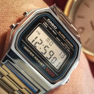 [HOT 2021]Đồng hồ nam casio A159-A158 Full box điện tử chống nước siêu cá tính và trẻ trung năng-full box thiêc