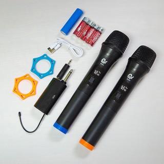 Bộ 2 Micro không dây MV-01 karaoke chuyên nghiệp