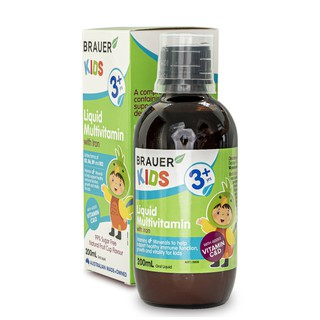 Brauer Vitamin Tổng Hợp bổ sung thêm Sắt cho trẻ từ 3 đến 12 tuổi 200ML