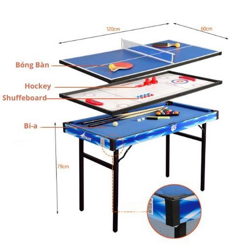 Bàn Bi-a cao cấp 4 trong 1 ( Bóng bàn, Shuffeboard & Hockey)