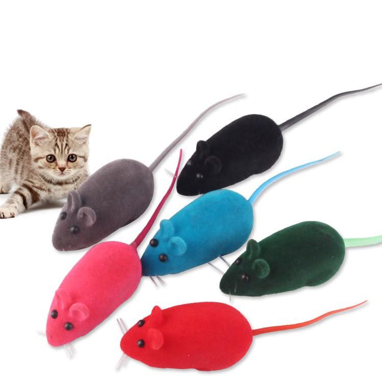 Đồ Chơi Chuột Cao Su Nhiều Màu Tập Tương Tác Cho Mèo và Chó (Giao Màu Ngẫu Nhiên)