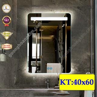 gương led cảm ứng thông minh treo phòng tắm kích thước 40×60 cm – guonghoangkim mirror