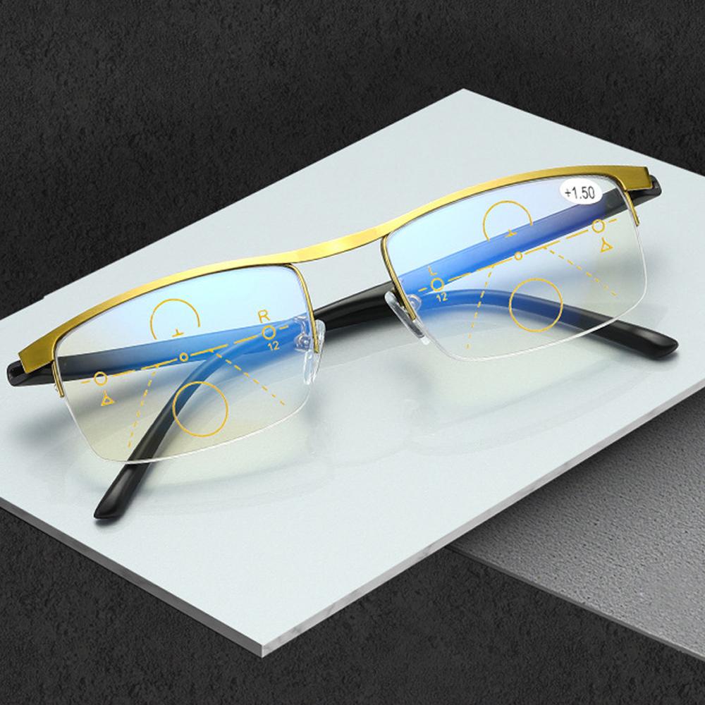 NEONY Men Women Fashion Anti Blue Light Reading Glasses Radiation Protection Computer Goggles Progressive Presbyopic Eyeglasses Anti-UV Anti-blue Rays Retro...