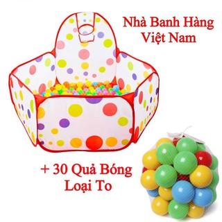 [SHOPEE TRỢ GIÁ] Lều Bóng Có Rổ Kèm 50 Bóng Hàng Việt Nam Cho Bé