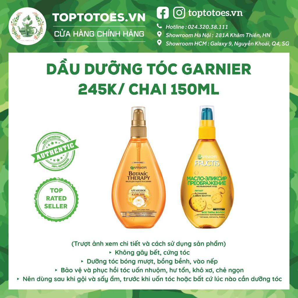 Dầu dưỡng tóc Garnier Fructis/ Botanic Therapy dưỡng tóc bóng mượt, không bết
