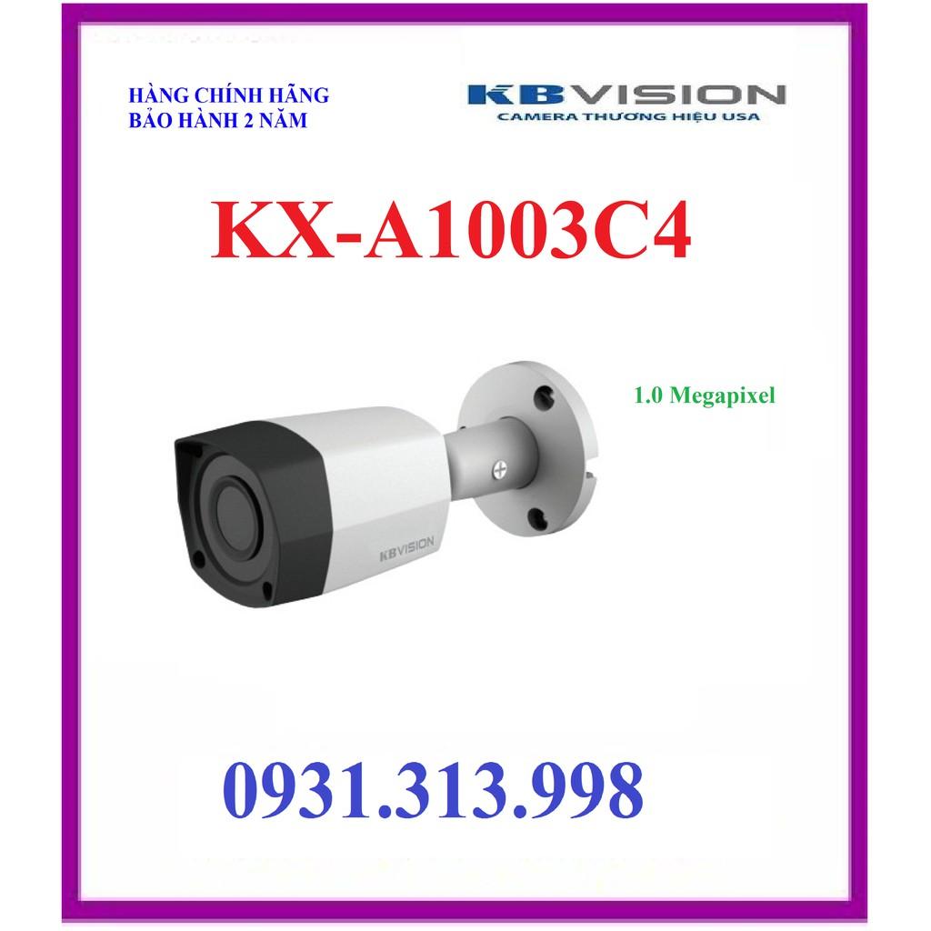 Camera KBVISION KX-1003C4 1.0MP (CVI, TVI, AHD, Analog).