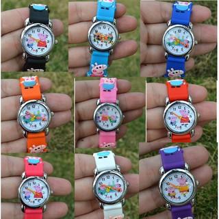 Đồng hồ đeo tay hoạt hình heo Peppa dành cho trẻ em nam nữ