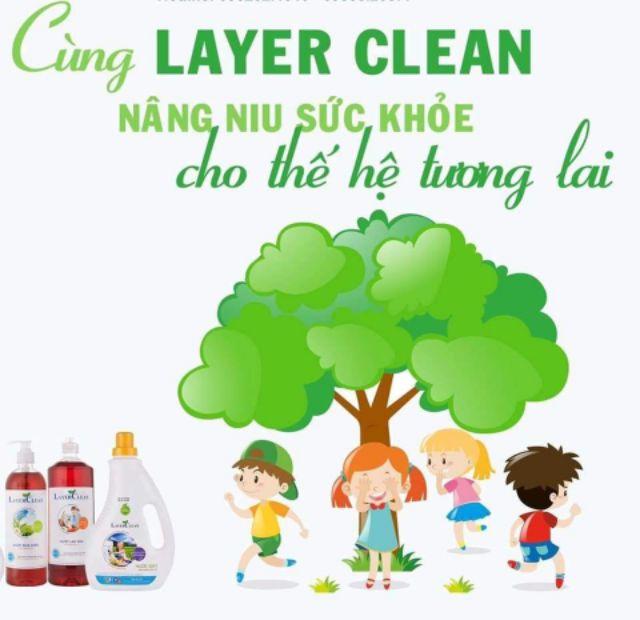Nước rửa tay hữu cơ Layer Clean hương lô hội 330ml