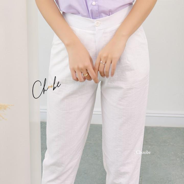 Quần baggy đũi Choobe, chất đũi xước thoáng mát, siêu mịn, quần đũi nữ cạp chun sau, form chuẩn, tôn dáng