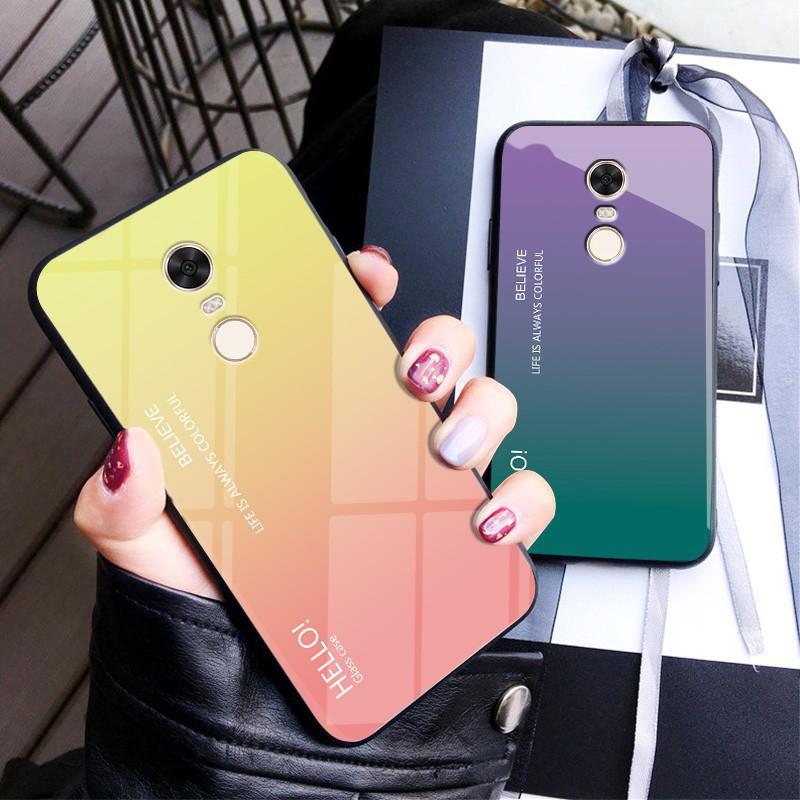 Ốp lưng điện thoại màu gradient dành cho Redmi Note 5 Pro 5A Prime 5 Plus Note 4X 4 6 6A