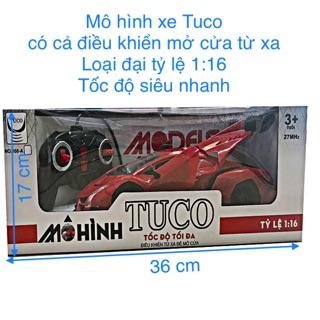 Mô hình xe ô tô điều khiển TUCO tốc độ siêu nhanh có điều khiển mở cửa từ xa tỷ lệ 1:16